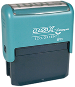 "EP13 - ClassiX ECO Self-Inking Message Stamp<br>1"" X 2-1/2"""