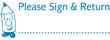 "35154 - 35154 'Please Sign & Return' 1/2"" x 1-5/8"""