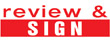 """35171 - 35171 'review & SIGN' 1/2"""" x 1-5/8"""""""