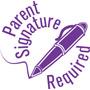 """35621 - 35621 'Parent Signature Required' 7/8"""" Diameter"""