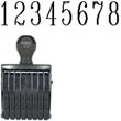 40208 - Number Stamp Size: 3 / 8-Band Traditional