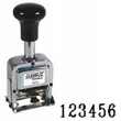 40250 - Number Stamp Size: 2 / 6-Band Metal Self-Inking Automatic