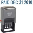 """40340 - 12 Phrase Dater 3/16""""x1-1/4"""" Message Date Stamp Plastic Self-Inking"""