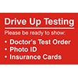 "79002 - 79002 Drive Up Testing 12"" x 18"""