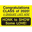 "79006 - 79006 Congratulations CLASS of 2020! 12"" x 18"""