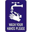 """79026 - 79026 WASH YOUR HANDS PLEASE 8"""" x 12"""""""
