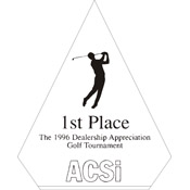 "A76-8052 - A76-8052 Pinnacle Acrylic Award 4"" x 5-3/4"""