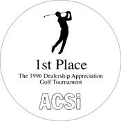 "A80-8052 - A80-8052 Infinity Paperweight Acrylic Award 3-1/2"" Diameter"