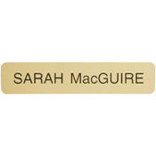 "G02 - G02 - Designer ""Name Plate Only""<br>2"" x 10"""