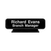 "K20 - K20 - Designer Desk Sign - (BLACK) Frame<br>2"" x 8"""