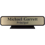 "K27 - K27 - Designer Desk Sign - (BROWN) Frame<br>2"" x 10"""