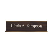 "K30 - K30 - Standard Aluminum Desk Sign - (GOLD) Frame<br>2"" x 8"""