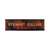 "K32 - K32 - Standard Aluminum Desk Sign - (BLACK) Frame<br>2"" x 8"""