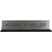 "K45 - K45 - Acrylic Base Desk Sign - (BLACK) Frame<br>2"" x 10"""
