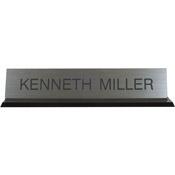 "K45 - K45 - Acrylic Base Desk Sign - (BLACK) Frame<br>2"" x 10"""
