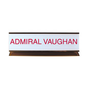 "K50 - K50 - Pedestal Aluminum Desk Sign - (GOLD) Frame<br>2"" x 8"""