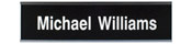 "W31 - W31 - Standard Aluminum Wall Sign - (SLIVER) Frame<br>2"" x 8"""