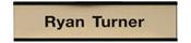 "W32 - W32 - Standard Aluminum Wall Sign - (BLACK) Frame<br>2"" x 8"""