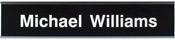 "W36 - W36 - Standard Aluminum Wall Sign - (SILVER) Frame<br>2"" x 10"""