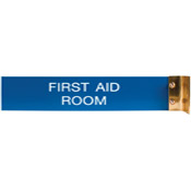 "W45 - W45 - Aluminum Corridor Sign - (GOLD) Frame<br>2"" x 10"""