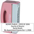 """PN40 - PN40 - Pink Pocket Stamp<br>1/2"""" x 2"""""""